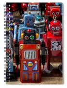 Fun Toy Robots Spiral Notebook