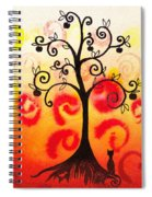 Fun Tree Of Life Impression Iv Spiral Notebook
