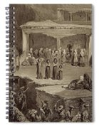 Funeral Ceremony In The Ruins Spiral Notebook