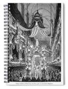 Funeral Dauphine, 1746 Spiral Notebook