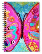 Funky Butterfly Spiral Notebook