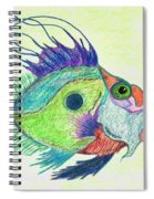 Funky Fish Art - By Sharon Cummings Spiral Notebook