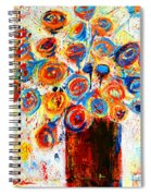 Funky Flowers Spiral Notebook