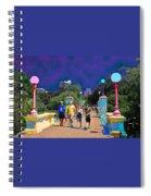 Funky Foot  Bridge Spiral Notebook