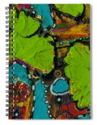 Funky Ginko Spiral Notebook