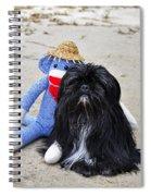 Funky Monkey And Sweet Shih Tzu Spiral Notebook