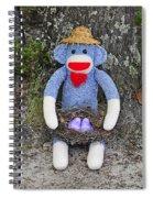 Funky Monkey - Purple Peeps Spiral Notebook