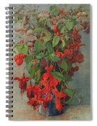 Fushia And Snapdragon In A Vase Spiral Notebook