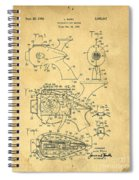 Futuristic Toy Gun Weapon Patent Spiral Notebook
