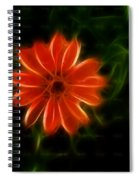 Futuristic Zinnia 4 Spiral Notebook