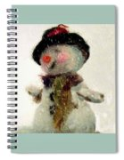 Fuzzy The Snowman Spiral Notebook