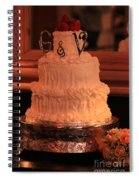 G And V Wedding Cake Spiral Notebook