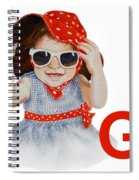 G Art Alphabet For Kids Room Spiral Notebook