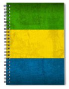 Gabon Flag Vintage Distressed Finish Spiral Notebook