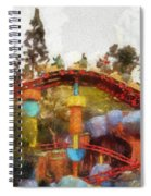 Gadget Go Coaster Disneyland Toontown Photo Art 02 Spiral Notebook