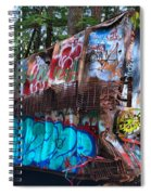Gaffiti In The Candian Forest Spiral Notebook