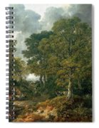 Gainsboroughs Forest Cornard Wood, C.1748 Oil On Canvas Spiral Notebook