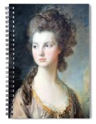 Gainsborough's The Hon. Mrs. Thomas Graham Up Close Spiral Notebook