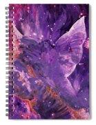 Galactic Angel - Rose Spiral Notebook