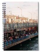 Galata Skyline And Bridge 02 Spiral Notebook
