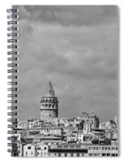 Galata Tower Mono Spiral Notebook