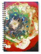 Galaxy With Solar Systems Spiral Notebook
