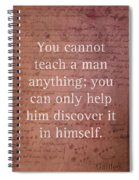 Galileo Quote Science Astronomy Math Physics Inspirational Words On Canvas Spiral Notebook