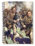 Gallant Piper Leading The Charge Spiral Notebook