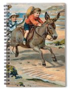 Galloping Donkey At The Beach Spiral Notebook