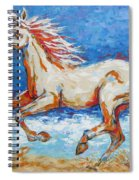 Galloping Horse On Beach Spiral Notebook