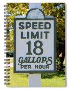Gallops Per Hour Spiral Notebook