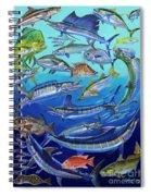 Gamefish Collage In0031 Spiral Notebook