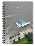Gaming On The River Boats Spiral Notebook