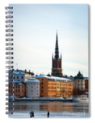 Gamla Stan Winter Spiral Notebook
