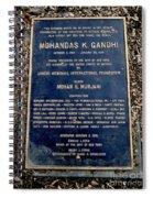 Gandhi Plaque Spiral Notebook