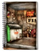 Garage - Just Behind The Garage Spiral Notebook