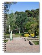 Garden At Montjuic In Barcelona Spiral Notebook