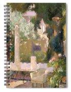 Garden At The Sorolla House Spiral Notebook