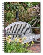 Garden Benches 3 Spiral Notebook