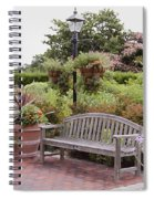 Garden Benches 6 Spiral Notebook