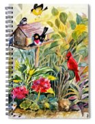 Garden Birds Spiral Notebook