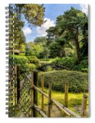 Garden Bridge Spiral Notebook