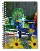 Garden Chairs Spiral Notebook