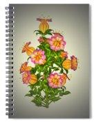 Garden Flowers 6 Spiral Notebook
