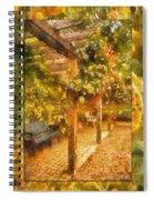 Garden Flowers With Bench Photo Art 02 Spiral Notebook