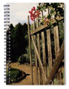 Garden Gate Welcome Spiral Notebook