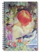 Garden Girl - Antique Collage Spiral Notebook