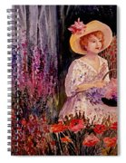 Garden Girl Spiral Notebook