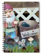 Garden Gnome - Square Spiral Notebook