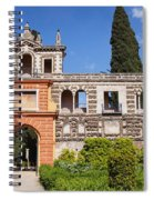 Garden In Alcazar Palace Of Seville Spiral Notebook